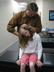 Dr. Clary treats a child at A Functional LifeRehab in New Brighton, MN
