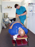knee adjustment for sports injury minneapolis DC Fred Clary